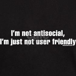 Not antisocial Black T-Shirt