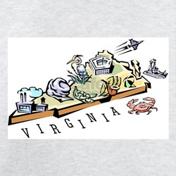 Virginia Map T-Shirt