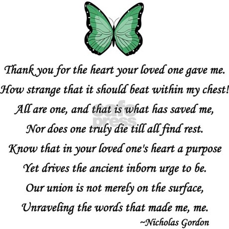 Donor Thank You Poem Framed Tile by donorawareness