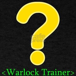 Warlock Trainer Black T-Shirt for gamers