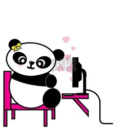 Women's White T-Shirt (Panda - Female)