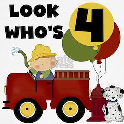 Fireman 4th Birthday T