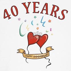 40th Festive Hearts Shirt