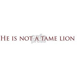 Not a Tame Lion w/Text Tee