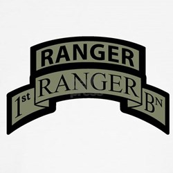 1st Ranger Bn with Ranger Tab Shirt