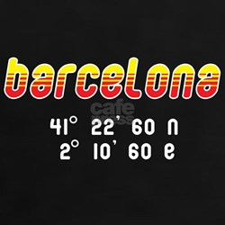 Women's Black Red or Turquoise Barcelona T-Shirt
