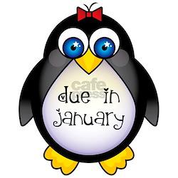 January Penguin Maternity Shirt