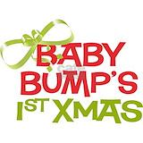 Baby bump\'s 1st xmas maternity t-shirt Maternity