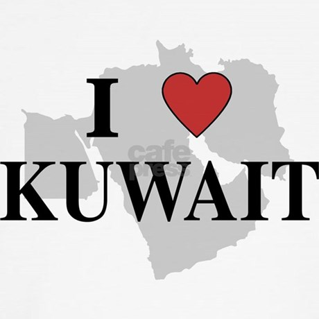 I Love Kuwait Long Sleeve T Shirt By Oneworldgear