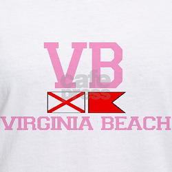 Virginia Beach VA - Nautical Flags Design Shirt