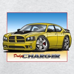 Yellow Dodge Charger T-Shirt