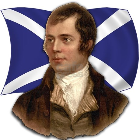 Robert burns with scottish flag postcards package by scarebaby