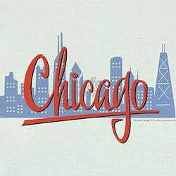Chicago Red Script in Skyline T