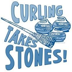 Curling Takes Stones T-Shirt