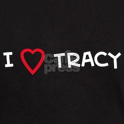 I Love TRACY Black T-Shirt