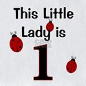 Ladybug first birthday Baby Bibs