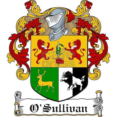 O Sullivan Family Crest Wall Clock By Coatofarmscrest