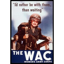 WAC Women's Army Corps (Front) Ash Grey T-Shirt