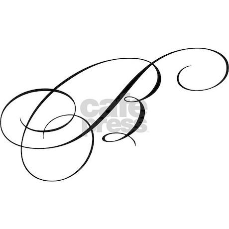 "Letter ""B"" (Cursive Initial) Mug by bluegreenred"