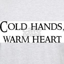 Cold hands, warm heart Ash Grey T-Shirt