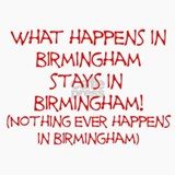 What happens in Birmingham... Ceramic Travel Mug