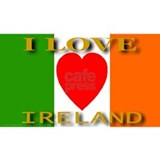 I Love Ireland Heart Flag Mug