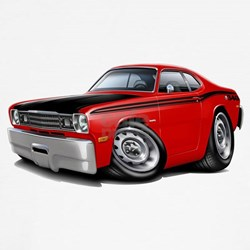 Duster 340 Red Car T-Shirt