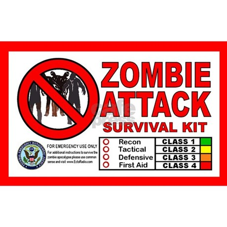 Zombie survival kit white elephant
