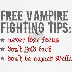 Vampire Fighting Tips Shirt