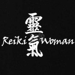 Reiki Woman Black Maternity T-Shirt