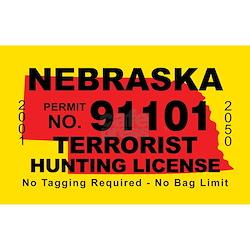 Nebraska terrorist hunting license for Nebraska fishing license