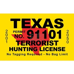 Hunting bumper stickers car stickers decals more for Texas hunting and fishing license