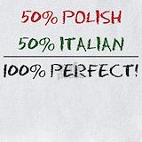 50 percent italian 50 percent polish Bib