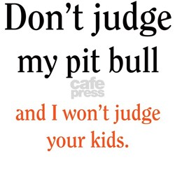 Don't judge my pit bull and I Shirt