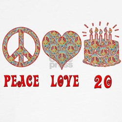 Cool Peace love birthday T