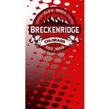 Breckenridge Red Water Bottle
