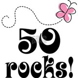 Cute 50 Rocks 50th Birthday Water Bottle
