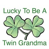 Lucky To Be A Twin Grandma Mug