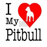 I Love My Pitbull Terrier Mug