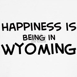 Happiness is Wyoming  Kids T-Shirt