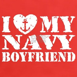 I Love My Navy Boyfriend Tee