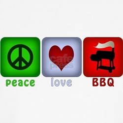 Peace Love and BBQ Shirt