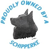 Proudly Owned Schipperke Water Bottle