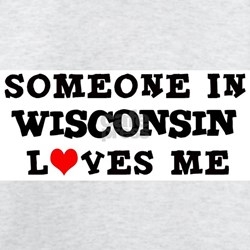 Someone in Wisconsin Ash Grey T-Shirt