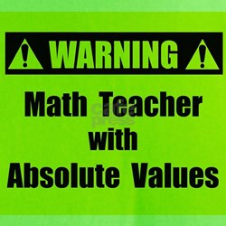 WARNING: Math Teacher 2 T-Shirt