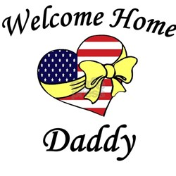 Welcome Home Daddy Patriotic Creeper Infant T-Shir