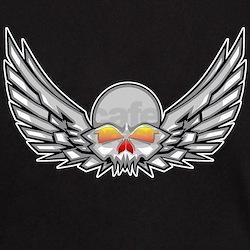 Winged Skull Black T-Shirt