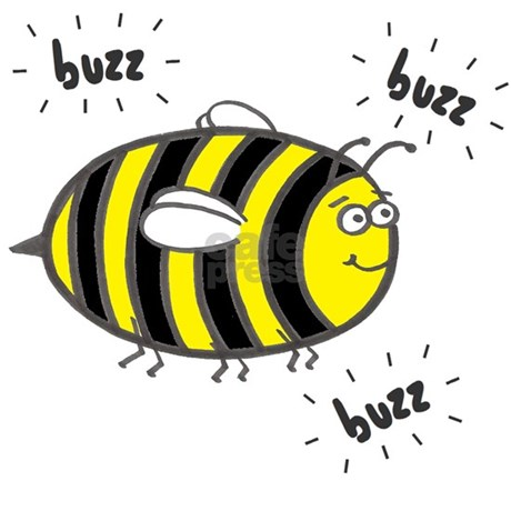 Buzz Bee Rectangle Stickers By Applepip