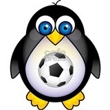 Sports Penguin Soccer Water Bottle