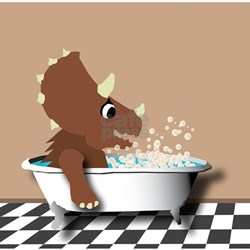 Triceratops in a bathtub Infant T-Shirt